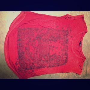 Rock & Republic T-shirt.  Red.  Large.